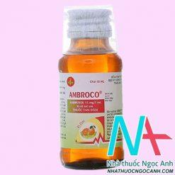 ThuốcSiro Ambroco có tác dụng gì