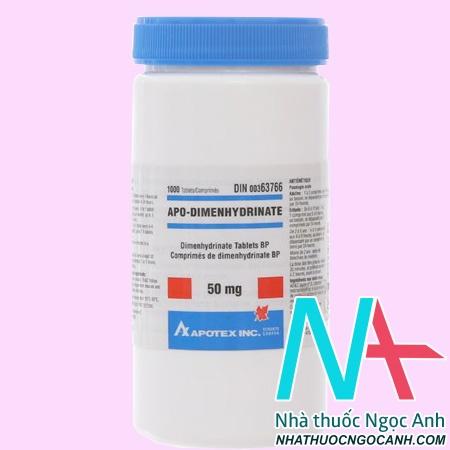 Thuốc Apo - Dimehydrinate