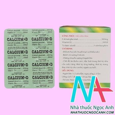thuốc Calcium + D