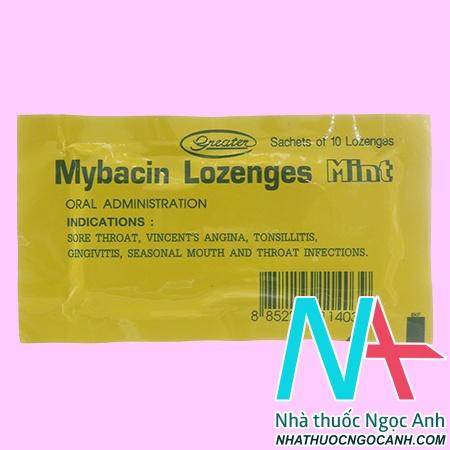 thuốc Mybacin Lozenges Mint