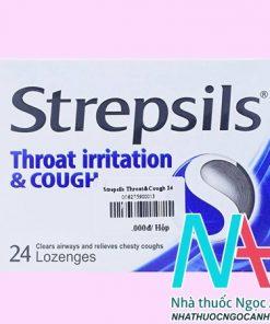 Thuốc Strepsils throat irritation & Cough có tác dụng gì