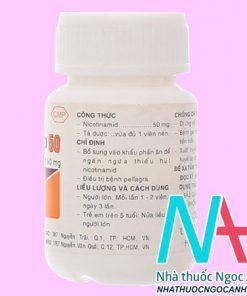 thuốc Nicotinamide Vitamin PP 50mg