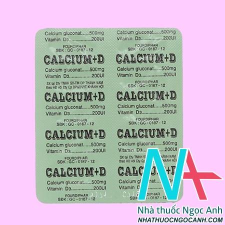 thuốc Calcium + D giá bao nhiêu
