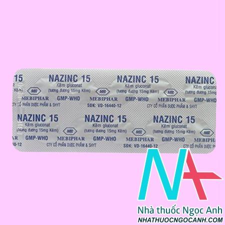 Thuốc Nazinc 15 có tác dụng gì