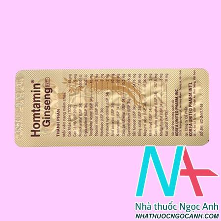 thuốc Homtamin Ginseng giá bao nhiêu