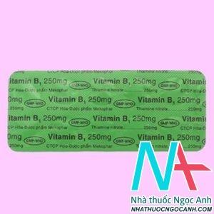 Vitamin B1 Mekophar 250mg giá bao nhiêu