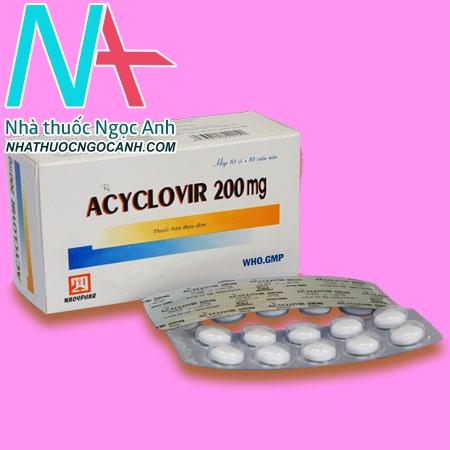 Thuốc Acyclovir 200mg Nadyphar