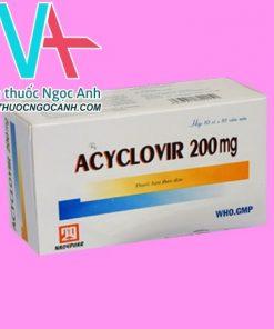 Hộp thuốc Acyclovir 200mg Nadyphar