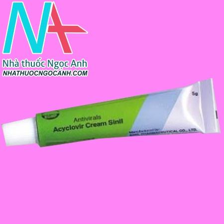 Typ thuốc Acyclovir Cream Sinil