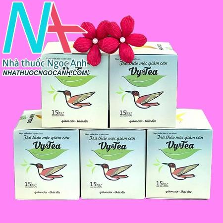 hộp sản phẩm Trà giảm cân vy tea