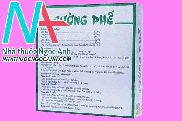 Cách dùng, liều dùng của thuốc ho Cường phế