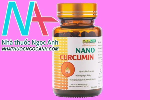 Nano Curcumin Metaherb có tác dụng gì?