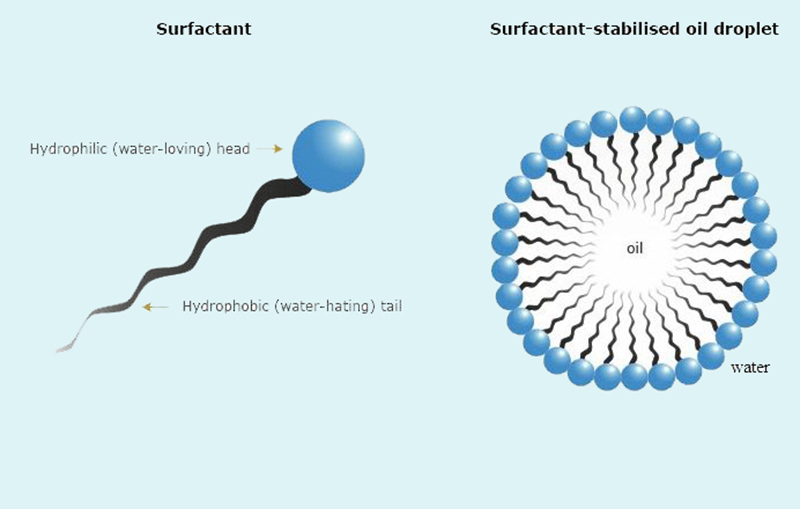 Các chất diện hoạt có khả năng làm tăng độ tan của nhiều chất