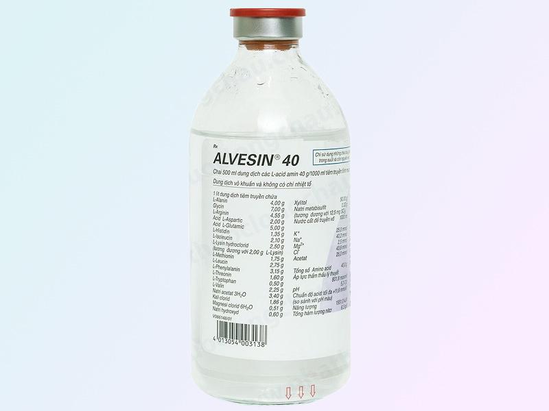 Dung dịch truyền cung cấp acid amin - ALVESIN 40