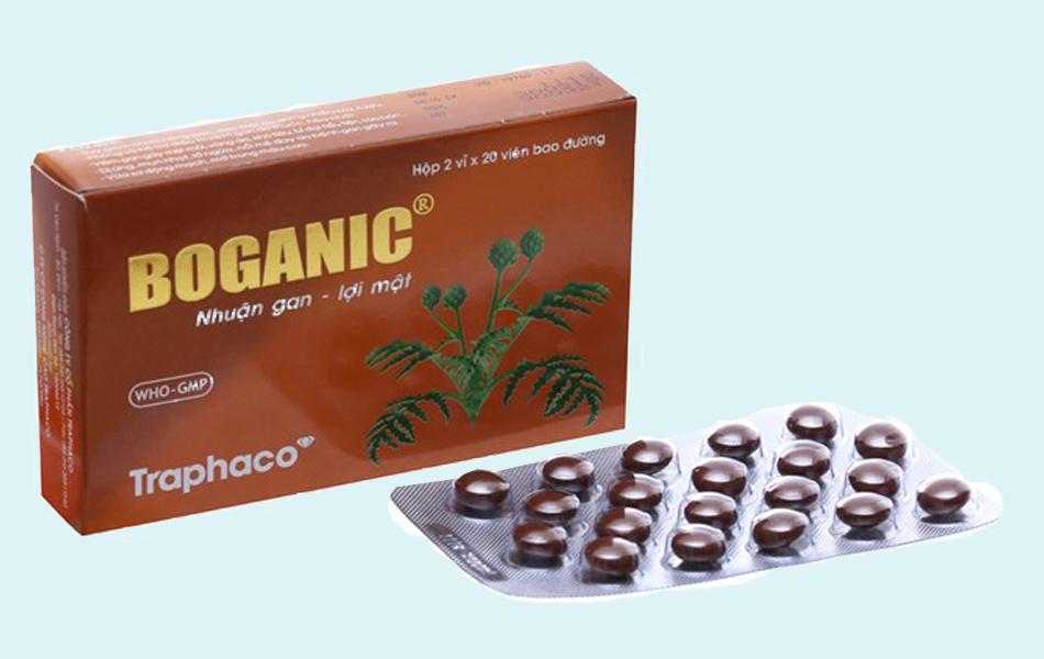 Boganic của traphaco được sản xuất dạng bao đường