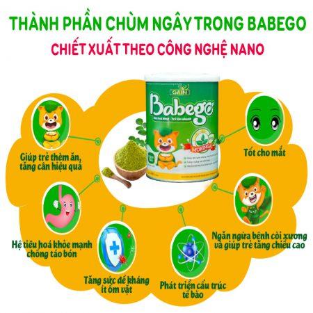 Công dụng thành phần chùm ngây trong Babego