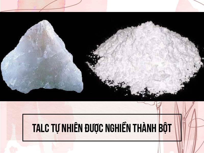 Bột Talc được nghiền từ Talc tự nhiên