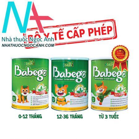 Sữa thảo dược chùm ngây Babego đầy đủ
