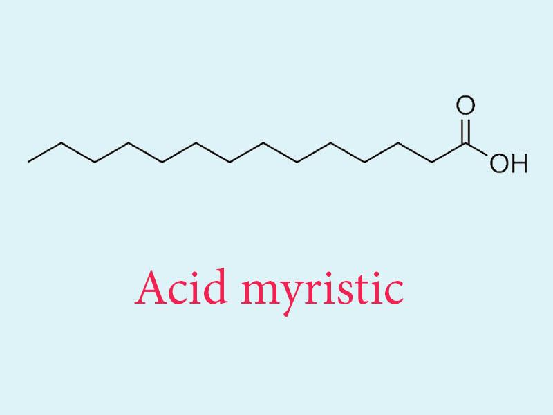 Công thức phân tử của acid myristic