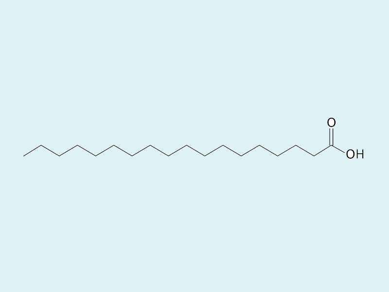 Cấu trúc phân tử của Acid stearic