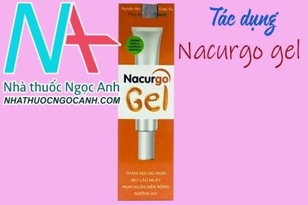 Tác dụng của Nacurgo Gel