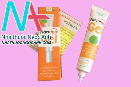 Thành phần của thuốc trị mụn sẹo Nacurgo Gel