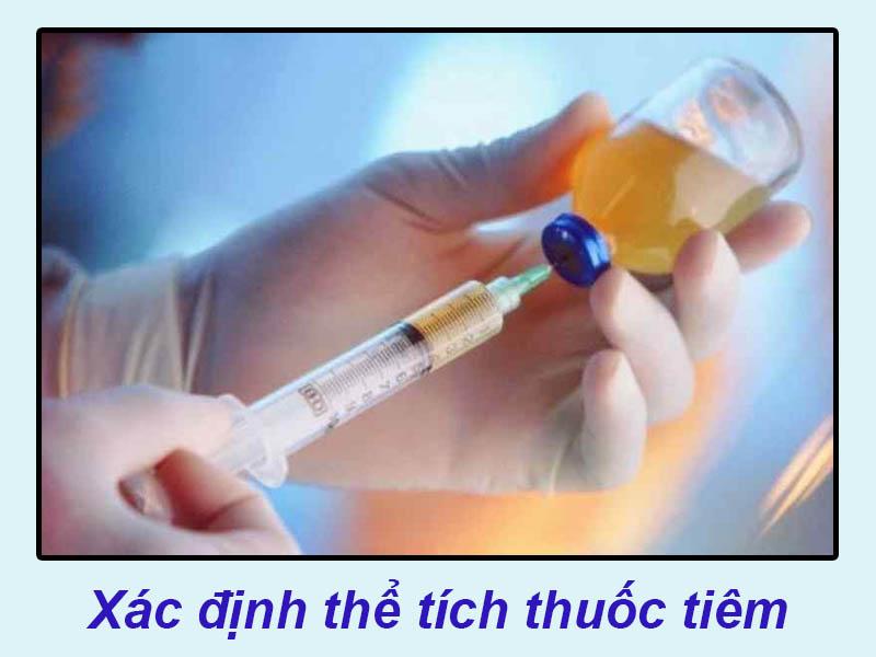 Kiểm tra thể tích thuốc tiêm