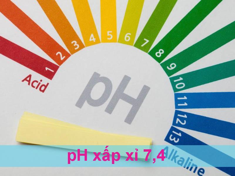 pH gần pH sinh lý của huyết tương