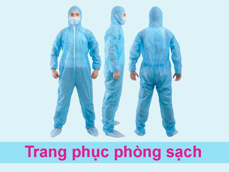 Trang phục trong sản xuất thuốc tiêm