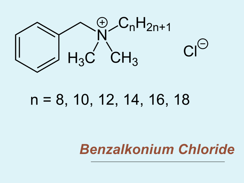Công thức hóa học của Benzalkonium Chloride
