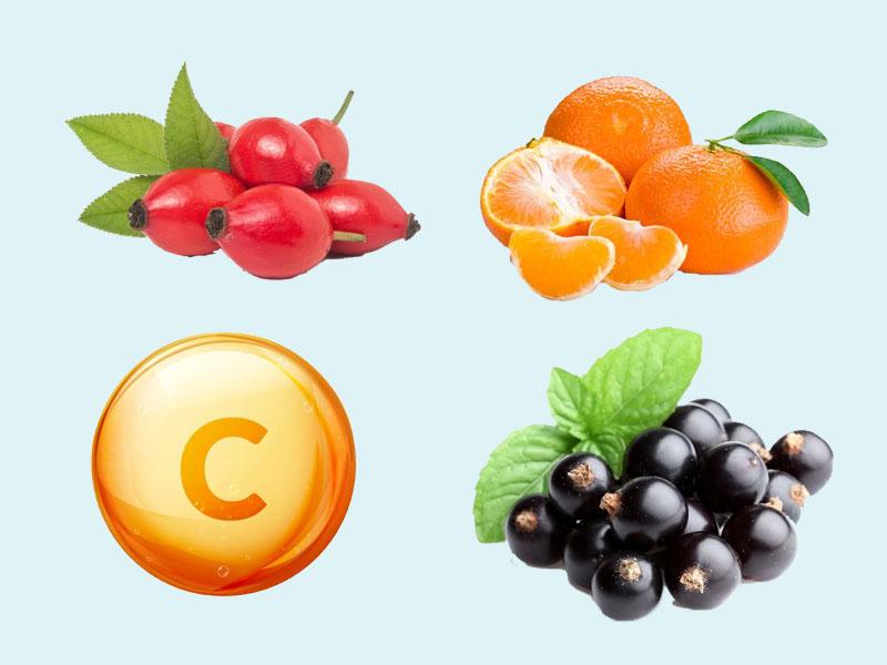 Các nguyên liệu chứa Vitamin C