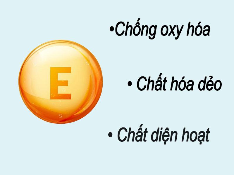 Các ứng dụng của vitamin E