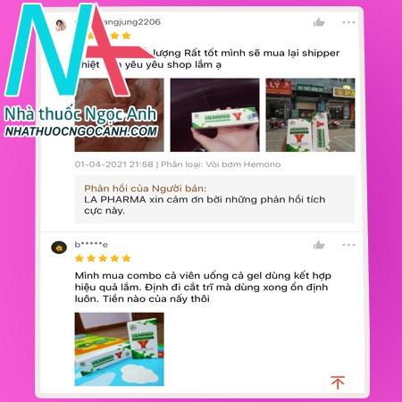 Review kem bôi trĩHemonoGel từ người dùng