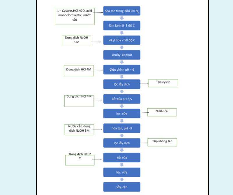 Sơ đồ quy trình tổng hợp carbocistein