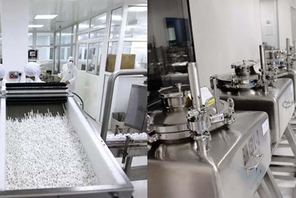 Dây chuyền sản xuất gia công viên nang cứng tại Vimexpharm