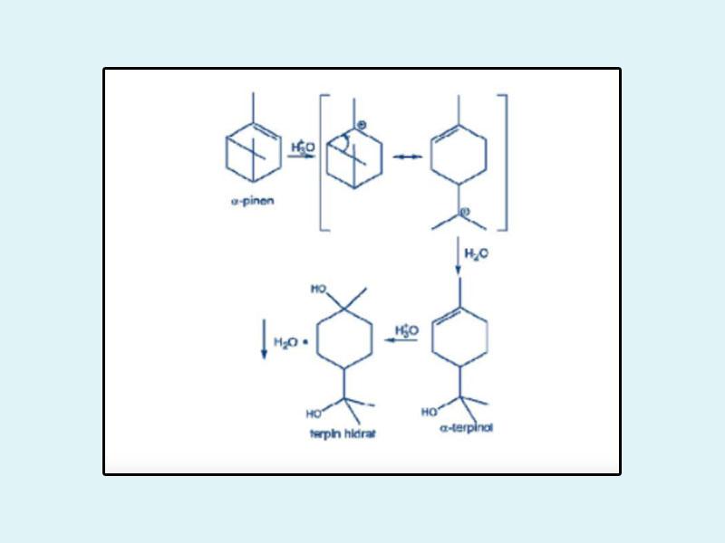 Cơ chế phản ứng tạo Terpin hydrat