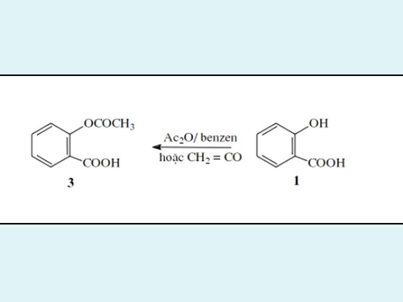 Con đường tổng hợp hóa học aspirin là acyl hóa acid salicylic.