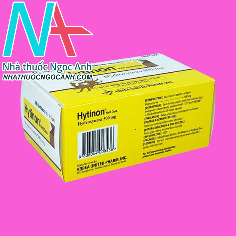 Đáy hộp thuốc Hytinon 500mg