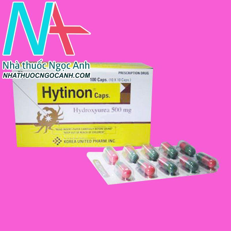 Vỉ thuốc Hytinon Hydroxyurea 500mg
