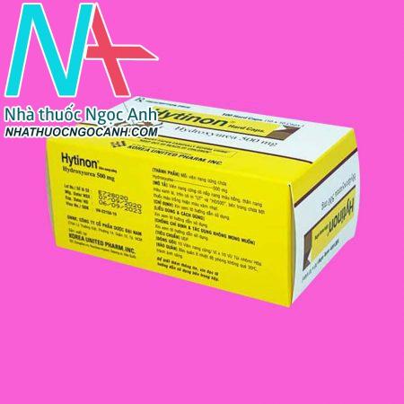 Mặt trên hộp thuốc Hytinon Hydroxyurea