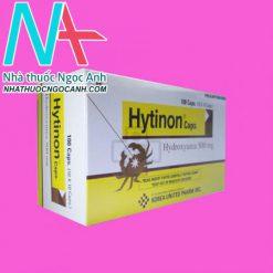 Mặt bên hộp thuốc Hytinon