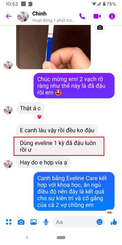 phản hồi Eveline Care