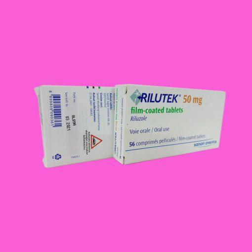 Hình ảnh thuốc Rilutek 50mg mặt sau