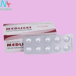 Hộp và vỉ thuốc Medlicet