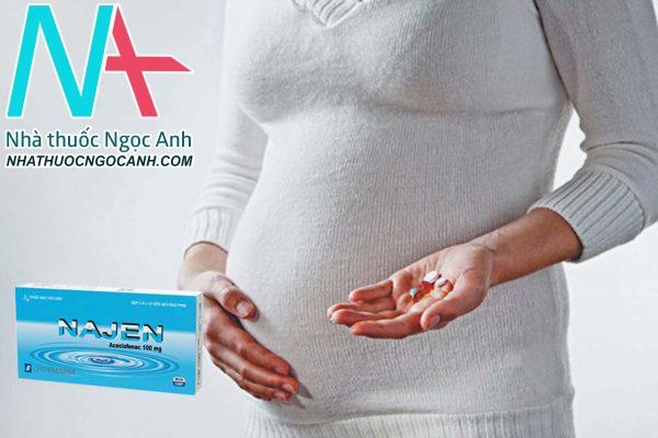 NAJEN có thể sử dụng cho phụ nữ có thai không?