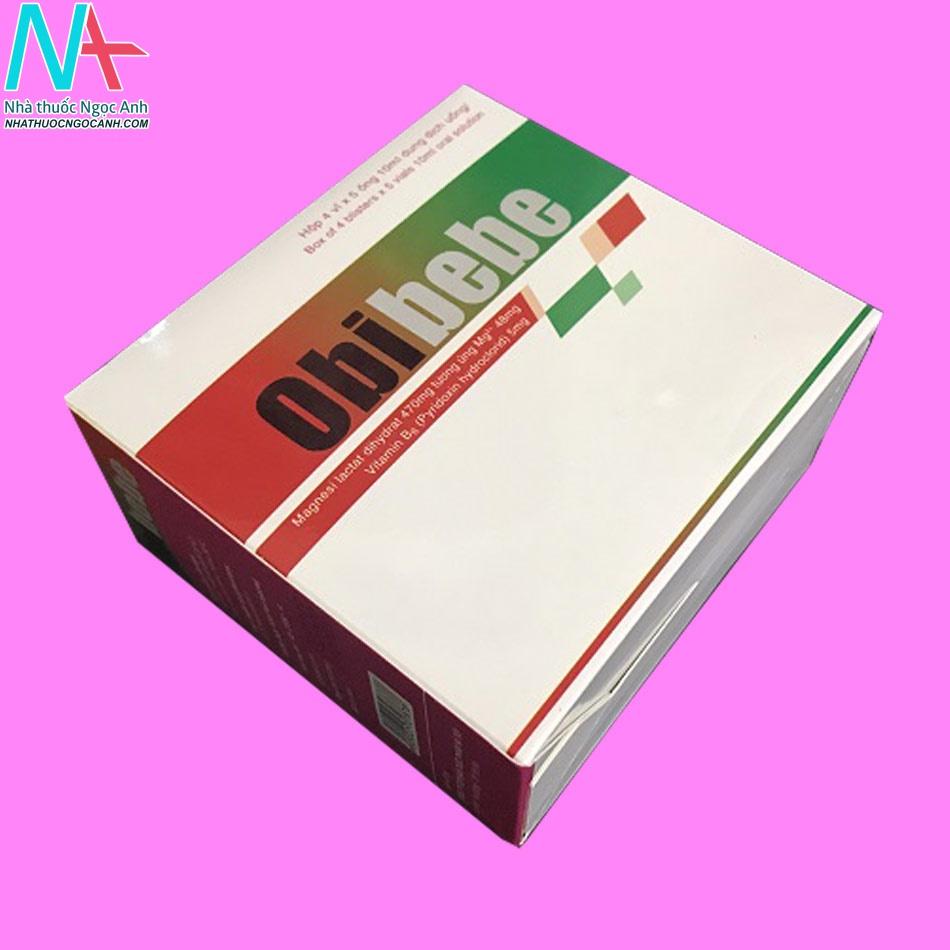 Hình ảnh thuốc Obibebe dạng hộp nằm ngang