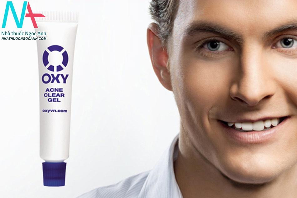 Kem trị mụn cho nam giới Oxy Acne Clear Gel - đánh bay mụn nhanh chóng