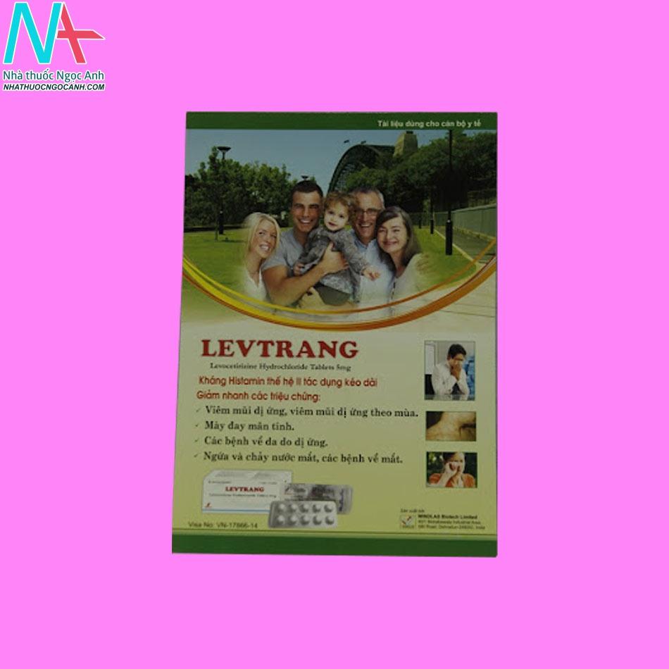 Tờ hướng dẫn sử dụng thuốc Levtrang