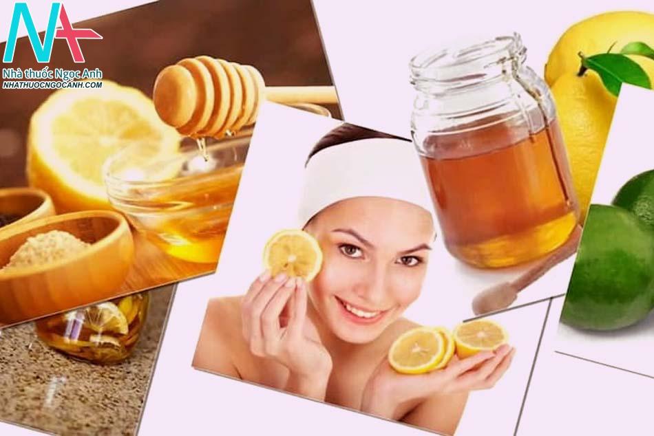 Đường, mật ong, chanh giúp loại sạch mụn cám trên da