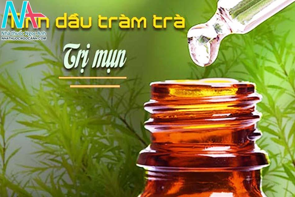 Dùng tinh dầu tràm trà trị mụn trứng cá đầu trắng